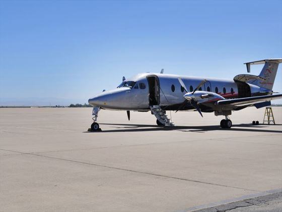 A typical Beechcraft Execliner jet