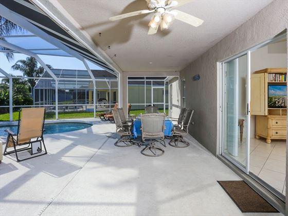 Typical Bradenton Sarasota Area Home - Private patio