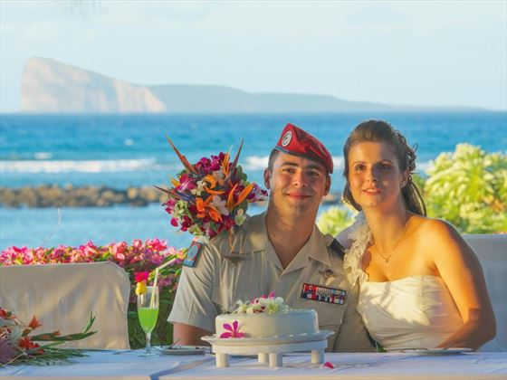 Just married at Canonnier Beachcomber Golf Resort & Spa