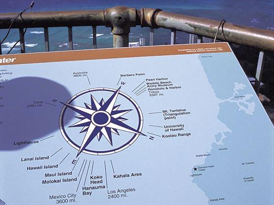 Diamond Head Observation Point, Waikiki, Hawaii