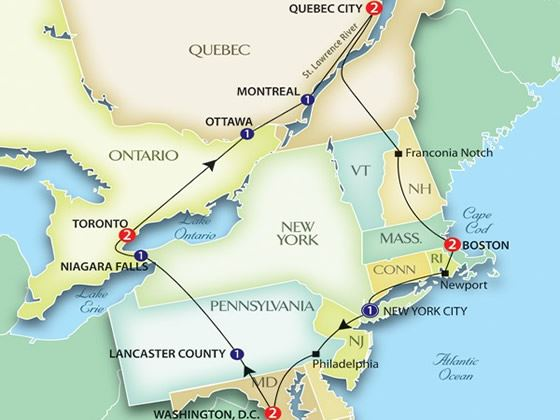 Experience our East Coast USA  Canada escorted tour Discover New