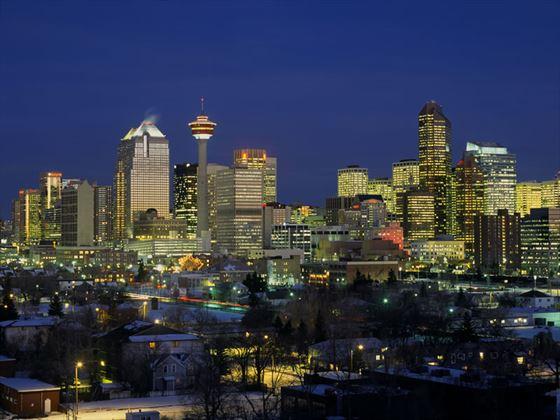 Evening skyline, Calgary