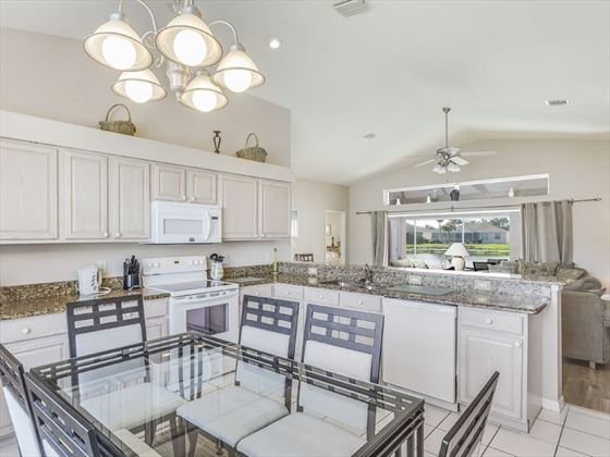 Example of a Fort Myers Area Home -  Dining area and Kitchen