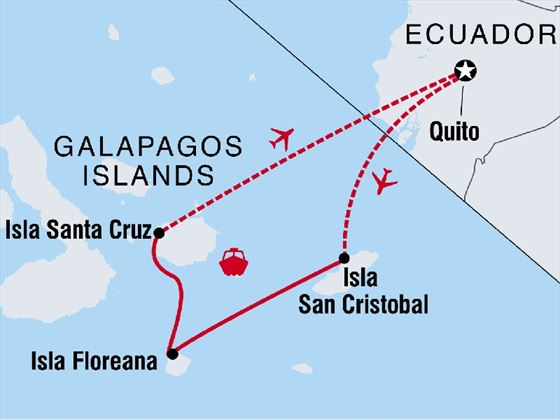 Galapagos Family Holiday Route