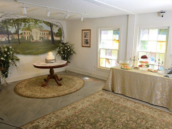 Inside Gracelands Chapel in the Woods