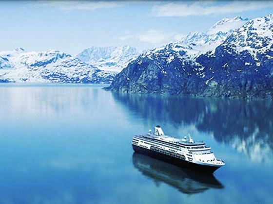 Holland America ms Zuiderdam, at sea, Alaska