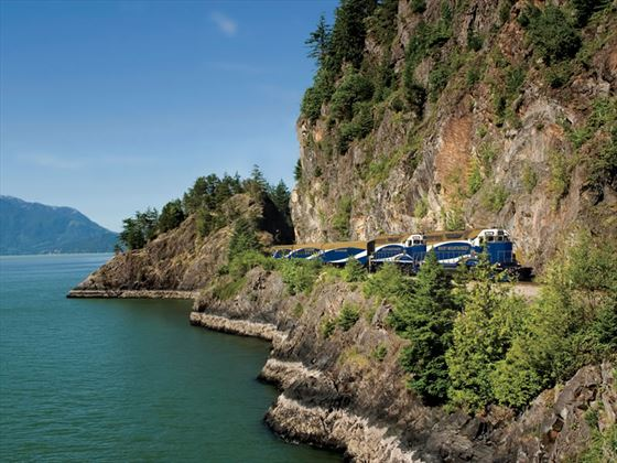Howe Sound, Whistler Sea to Sky climb route, Rocky Mountaineer