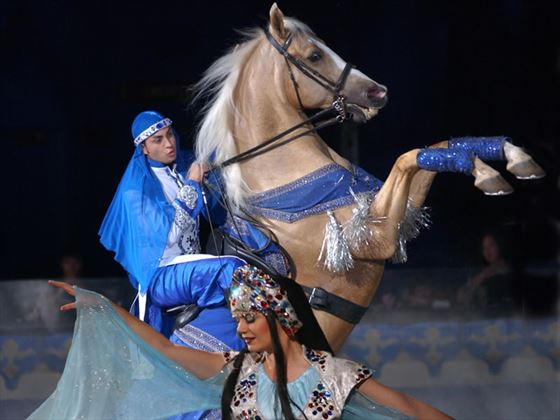 Arabian Nights dinner show - Prince Rearing Dance