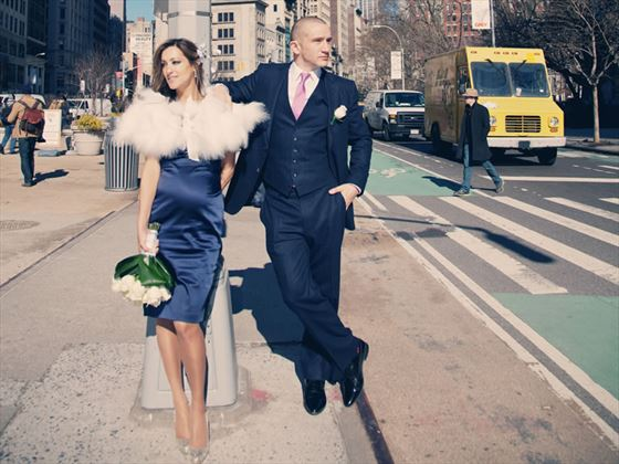 Bride and groom - New York City Clerk Office wedding
