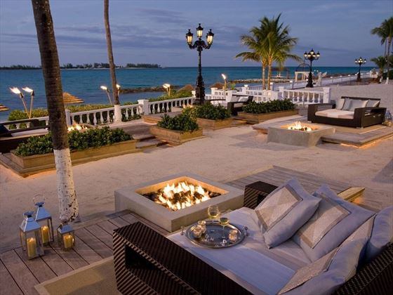 The fire pit area at Sandals Royal Bahamian Spa Resort
