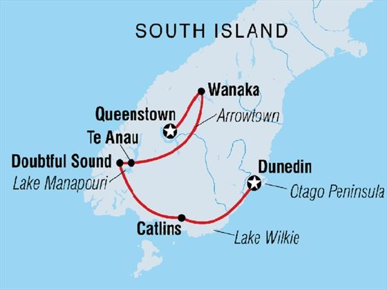 South Island Discovery 7-day route