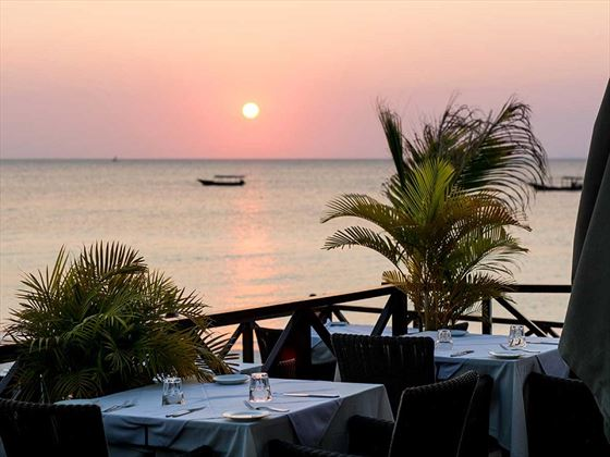 Sunset at Gold Zanzibar Beach House & Spa