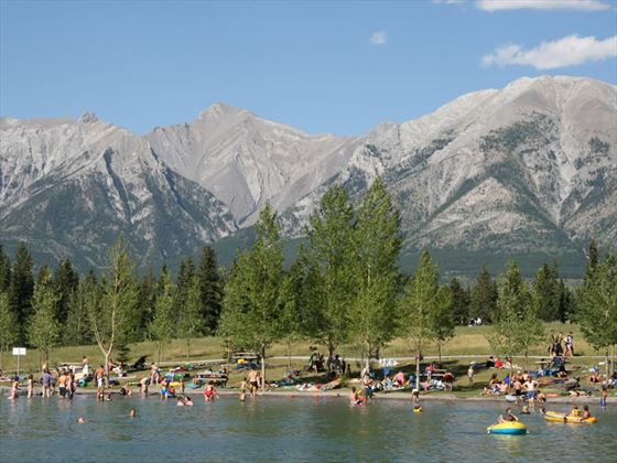 Swimming in Canmore Quarry, Alberta