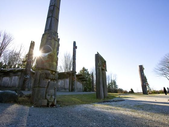 Totem poles and Haida houses, Museum of Anthropology at UBC, Vancouver