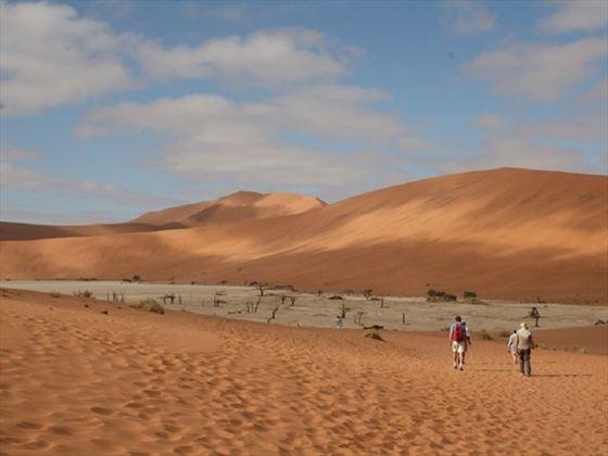 Trekking the dunes at Sossusvlei