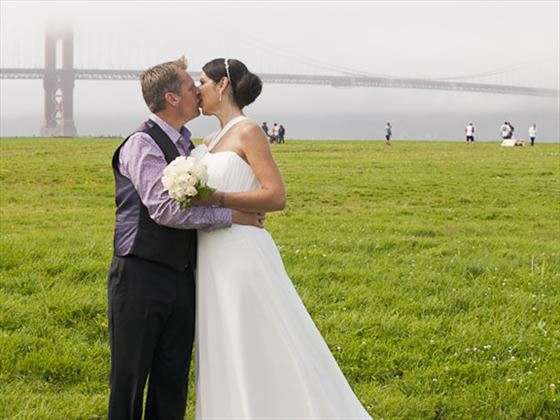 Newly married in San Francisco