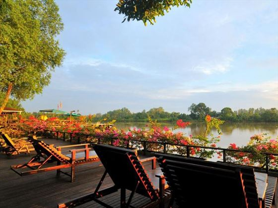 Riverfront Deck at Abai Jungle Lodge, Borneo