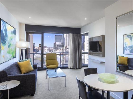 Adina Apartment Hotel Melbourne One Bedroom Apartment Lounge Room