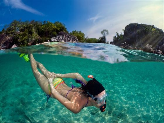 Snorkelling off the coast of Thailand