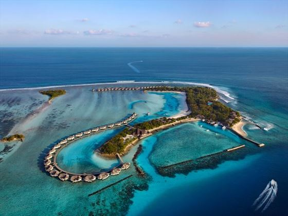 Aerial View of Cinnamon Dhonveli Maldives