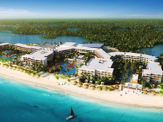 Aerial view of Breathless Riviera Cancun