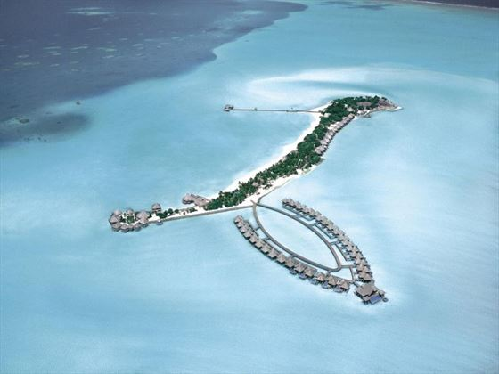 Ariel view of Taj Exotica Resort & Spa