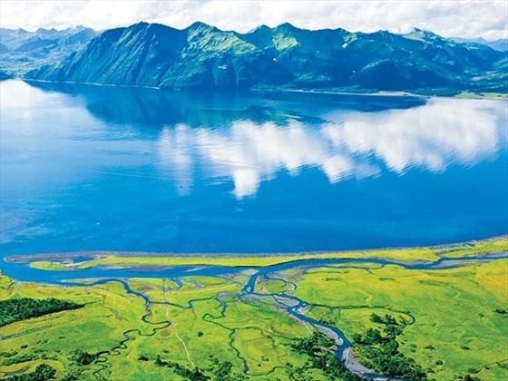 Aerial view of Kodiak Island, Alaska