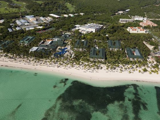 Aerial view of Barcelo Bavaro Beach