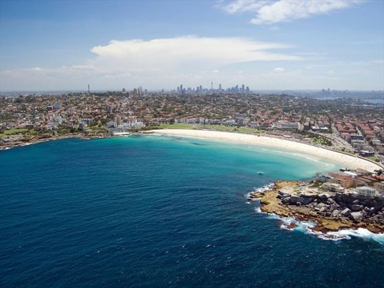 Aerial view of Bondi Beach