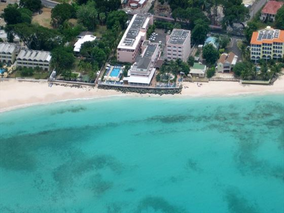 Aerial view of Butterfly Beach