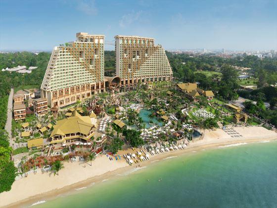 aerial view of centara grand mirage beach resort pattaya