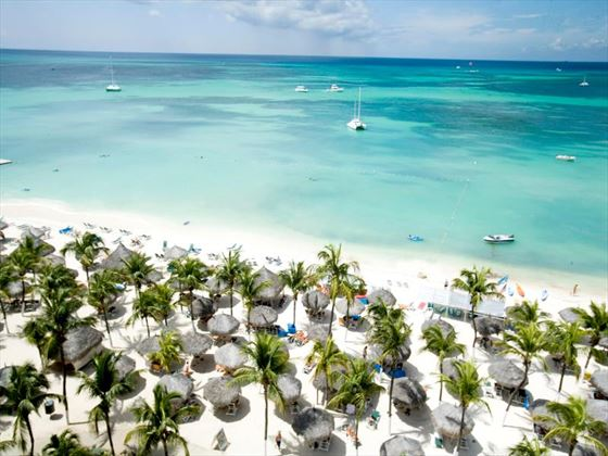 Aerial view of beach at Barcelo Aruba