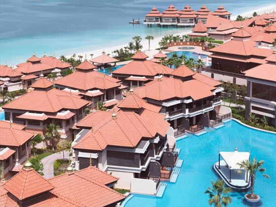 Aerial view of the resort