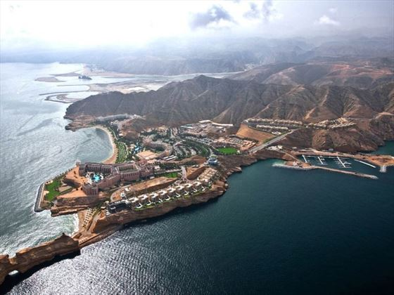 Aerial view of Shangri-La Barr Al Jissah Resort & Spa