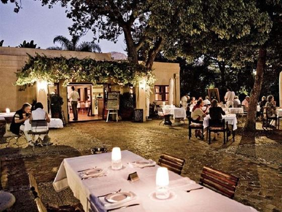 Dining at aha De Zalze Lodge