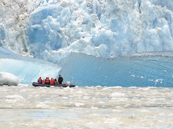 Exploring the icebergs of Alaska