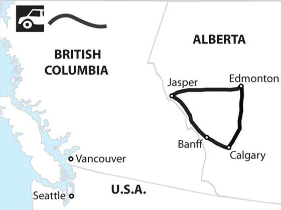 Alberta Family Getaway Map