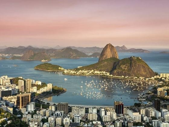 Amazing Sunset across Rio de Janeiro, Brazil