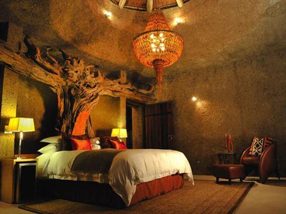 Amber Suite bedroom at Sabi Sabi Private Game Reserve