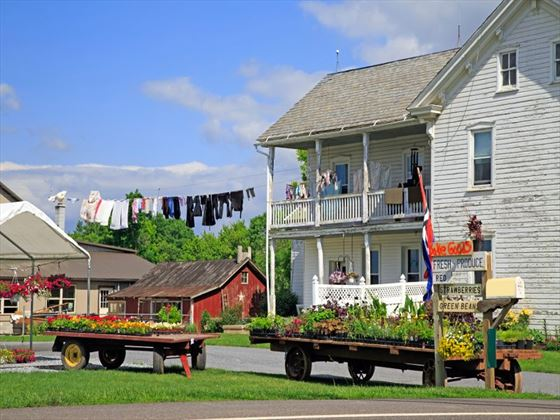 Amish roadside market in Lancaster County