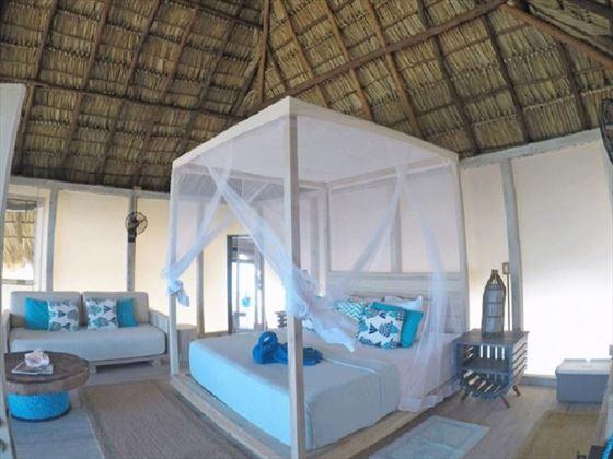 Interior of a Beachfront Palapa, Anegada Beach Club