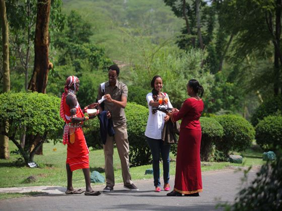 Arrival at Sarova Lion Hill Lodge