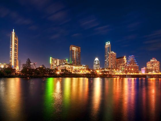 Austin at night, Texas