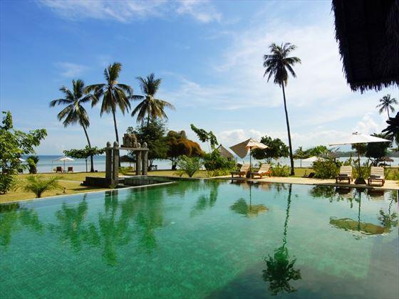 Bale Kokok Pletok Restaurant View, Hotel Tugu Lombok