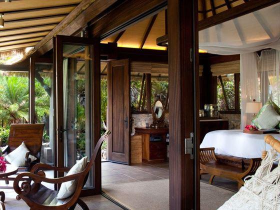 Bali House balcony at Necker Island