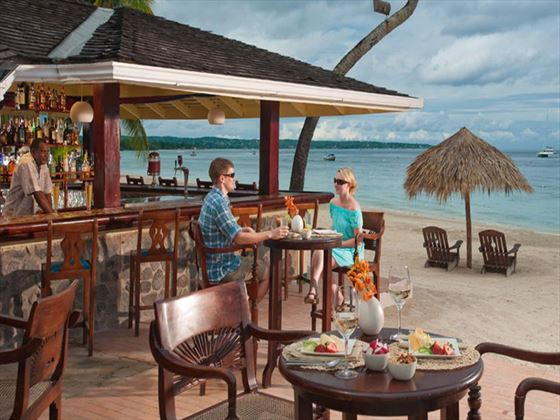 Beach bar at Sandals Negril Beach Resort & Spa