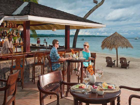 Beach bar at Sandals Negril Beach Resort & Spa