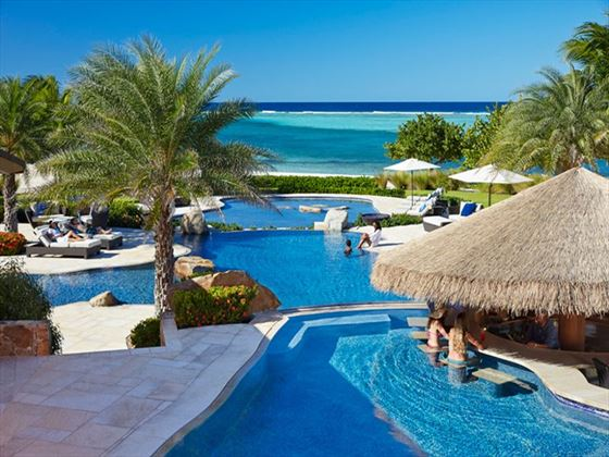 Beach Club pools at Oil Nut Bay