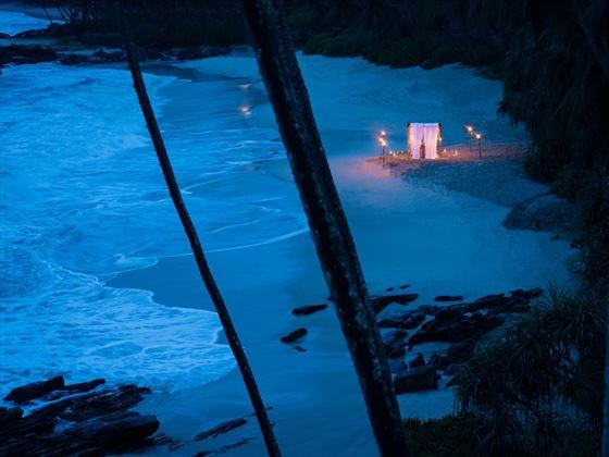 Beach dining under the stars