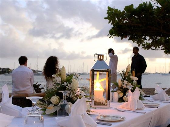 Beach dinner at Calabash Luxury Boutique Hotel & Spa
